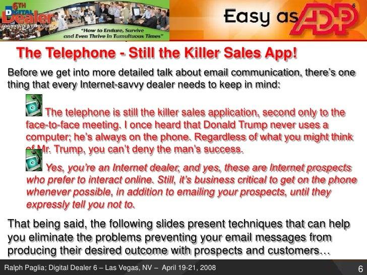 Email Is Killing You Digital Dealer Conference Workshop