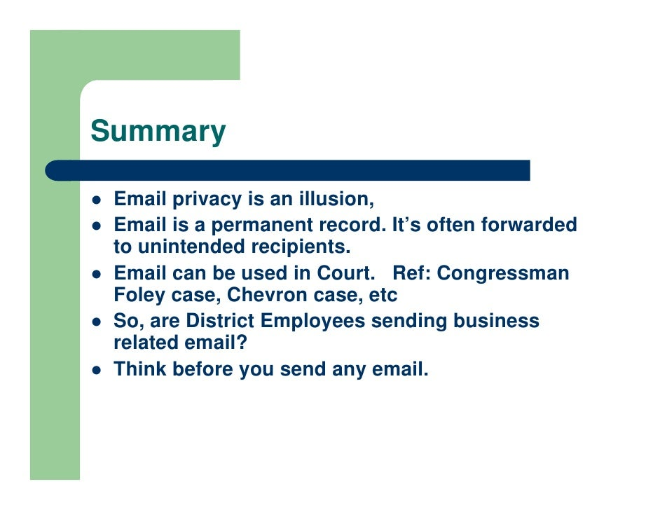 Email Liability