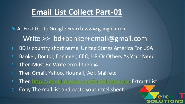 How To Collect Email List Via Google Search Part-01