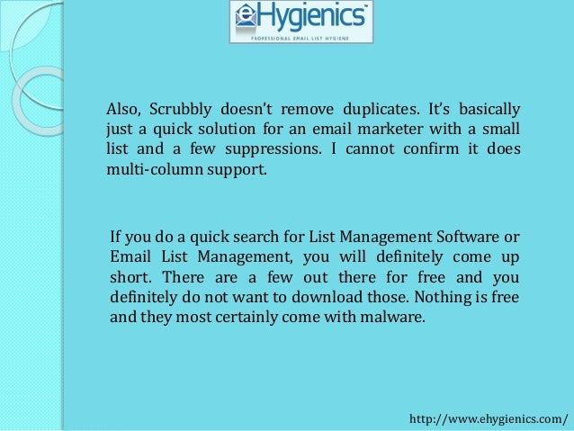 Email List Management Software features