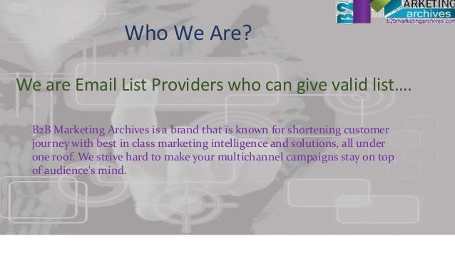 Email list Providers USA