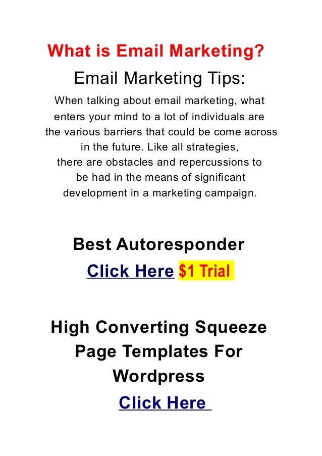 What is Email Marketing?Email Marketing Tips:When talking about email marketing, whatenters your mind to a lot of individu...