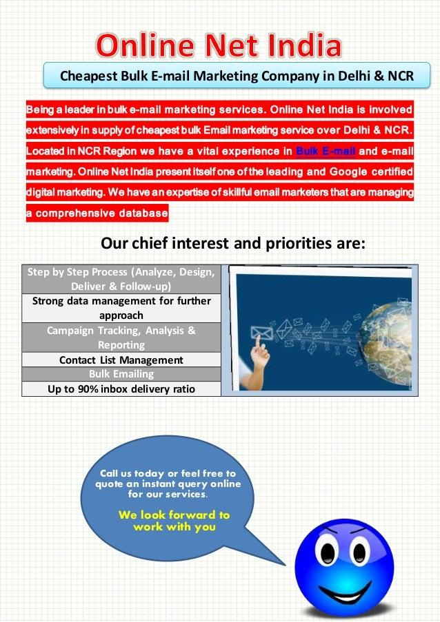 Cheapest Bulk E-mail Marketing Company in Delhi & NCR