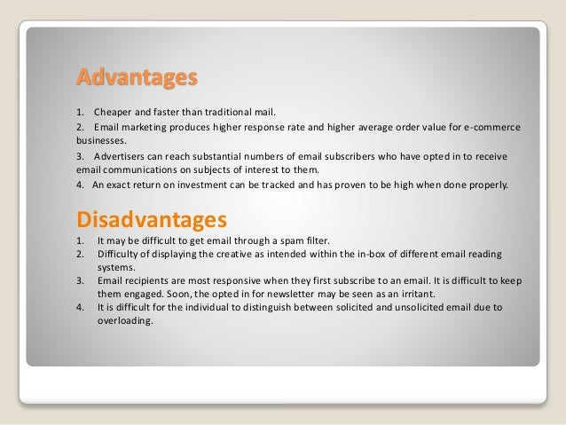 Disadvantages of E-Marketing Outweigh the Advantages