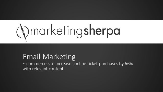 Email Marketing E-commerce site increases online ticket purchases by 66% with relevant content