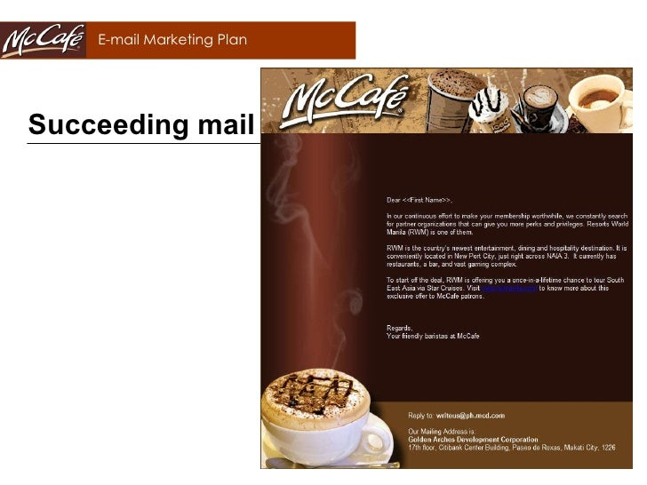 mccafe marketing plan Marketing plan 31 market a custom essay sample on mcdonald's business plan for only $1638 $139/page order now related essays evaluative essay on fast.