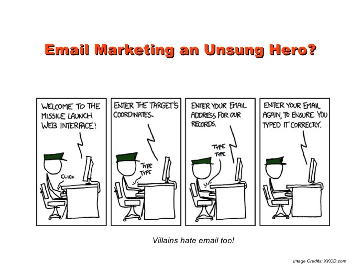 Email Marketing an Unsung Hero?            Villains hate email too!                                       Image Credits: X...