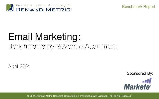 © 2014 Demand Metric Research Corporation in Partnership with Ascend2. All Rights Reserved. Benchmark Report Email Marketi...