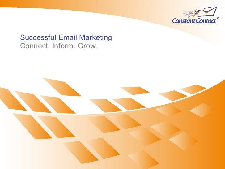 #9 IMU: Successful Email Marketing (CV301) Slide 2