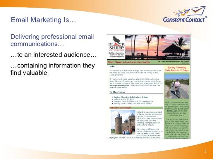#9 IMU: Successful Email Marketing (CV301) Slide 3