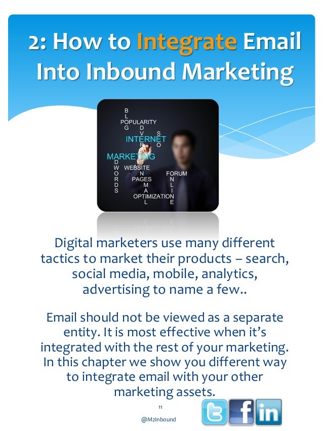 2: How to Integrate Email Into Inbound Marketing  Digital marketers use many different tactics to market their products – ...
