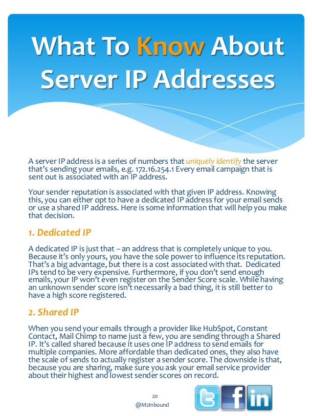 What To Know About Server IP Addresses A server IP address is a series of numbers that uniquely identify the server that's...