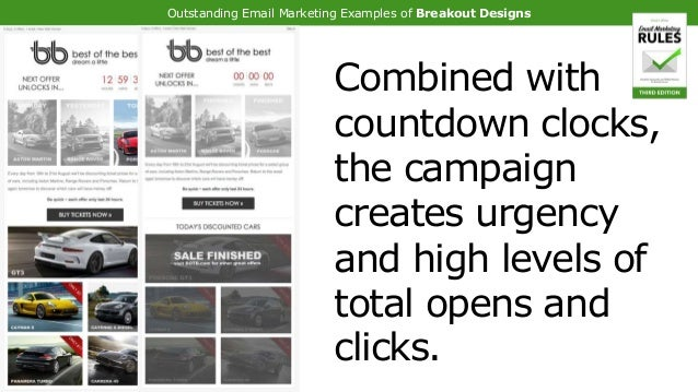 Outstanding Email Marketing Examples of Breakout Designs