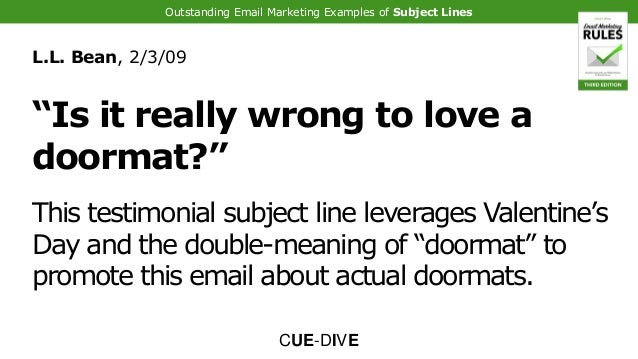 Outstanding Email Marketing Examples Of Subject Lines