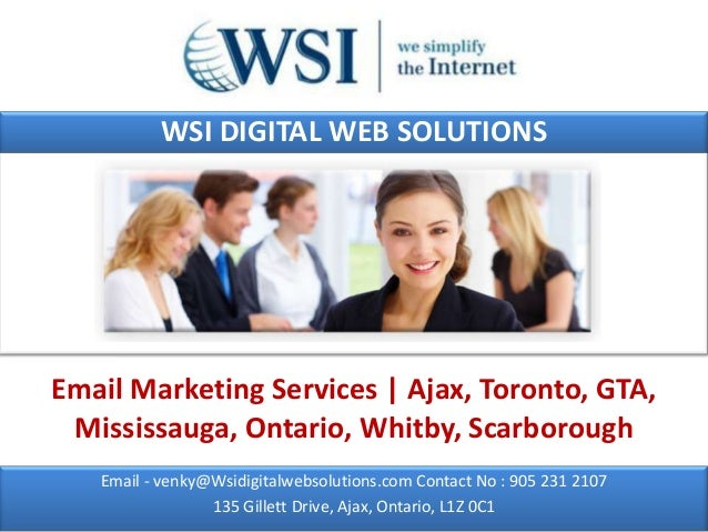 WSI DIGITAL WEB SOLUTIONSEmail Marketing Services | Ajax, Toronto, GTA, Mississauga, Ontario, Whitby, Scarborough   Email ...