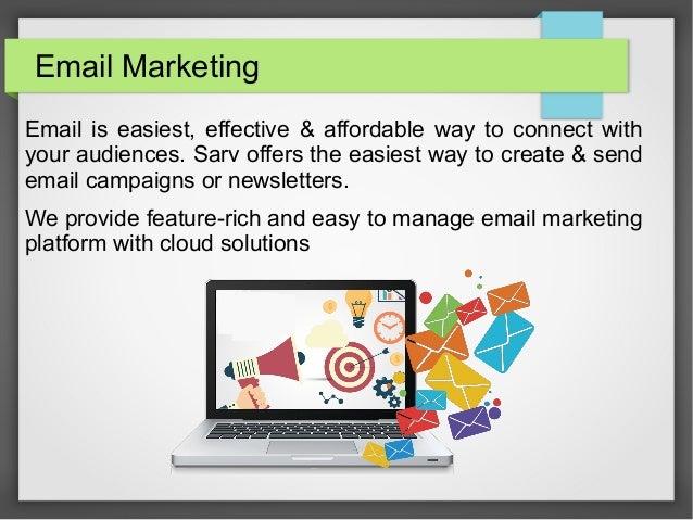 Email marketing services provider in india - sarv Slide 3