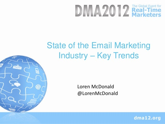 State of the Email Marketing  Section Title Trends   Industry – Key        Loren McDonald        @LorenMcDonald