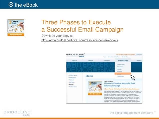 3 Phases To Email Marketing Webinar Bridgeline Digital
