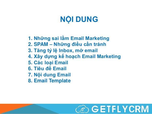 Email Marketing - Đào tạo nội bộ GetFly Slide 2