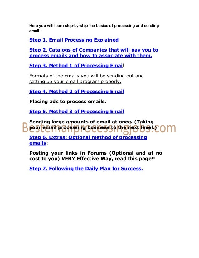 Email processing jobs without any investment forex zar aud