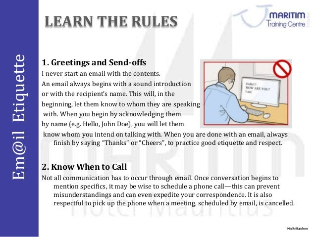 Email protocol courtesy similarly email etiquette means virtual behaviour applied to chat and messaging 13 m4hsunfo