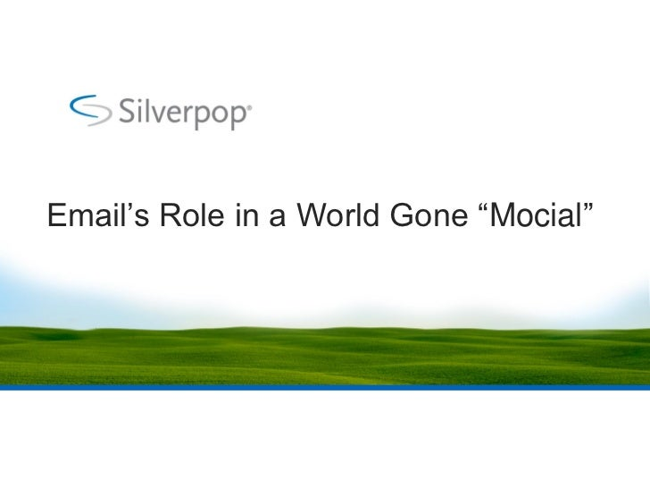 """Email's Role in a World Gone """"Mocial"""""""