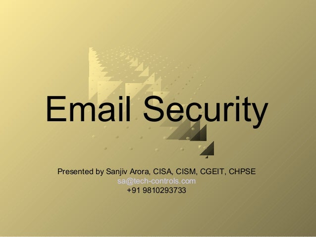 Email Security and Awareness