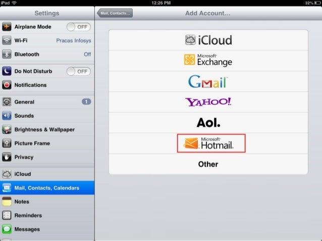 Custom Domain Email settings on iphone, ipad, ipod touch etc. Slide 2