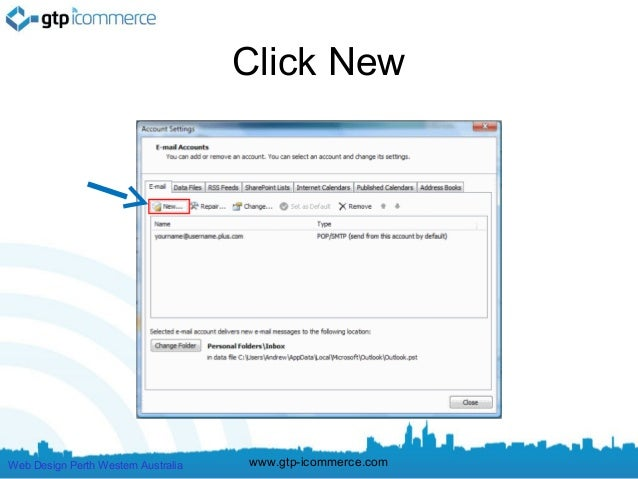 how to set password for microsoft outlook 2007