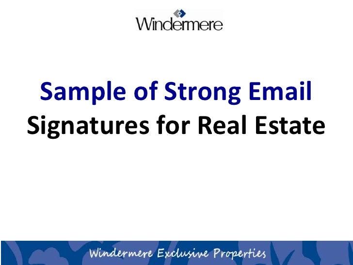 sample email signatures