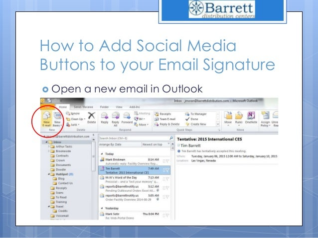 how to add signature in outlook 2010