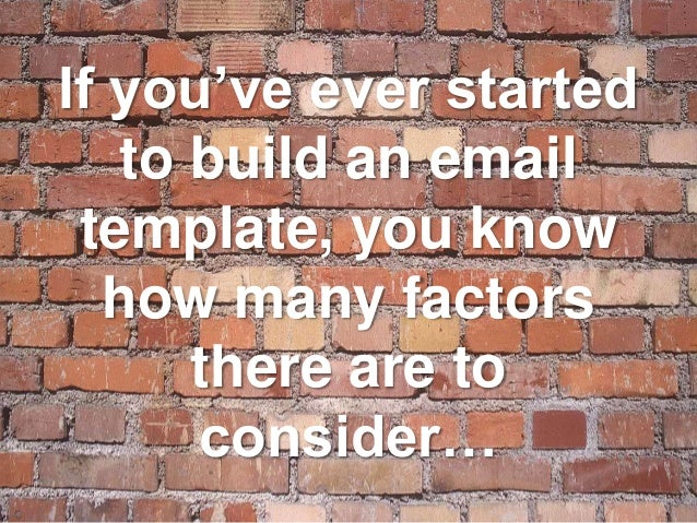 how to build email template