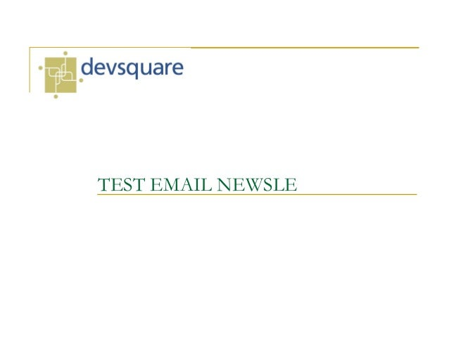 TEST EMAIL NEWSLE