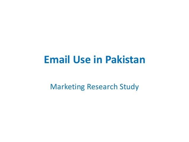 Email Use in Pakistan Marketing Research Study