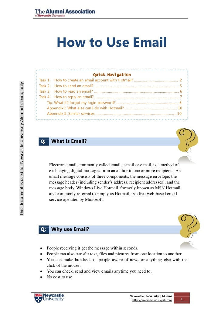 How to Use Email                                                                                                        Qu...