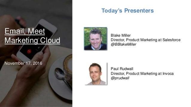 Calls, Meet Marketing Cloud Slide 2