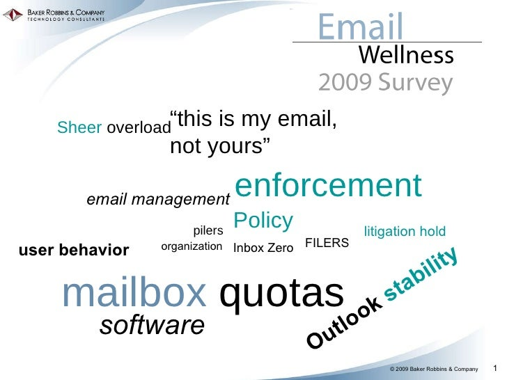 """Policy software user behavior mailbox  quotas FILERS pilers email management enforcement litigation hold """" this is my emai..."""