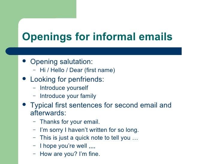 English Letter Writing Salutations