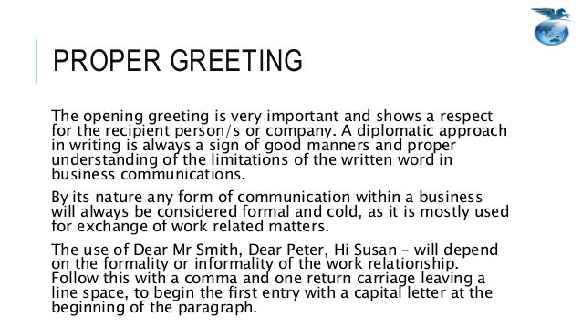 Email writing netiquette 6 proper greeting the opening m4hsunfo