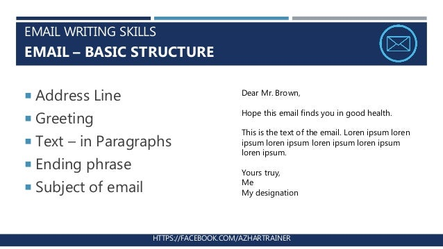 Presentation on email writing skills email writing skills email basic structure altavistaventures