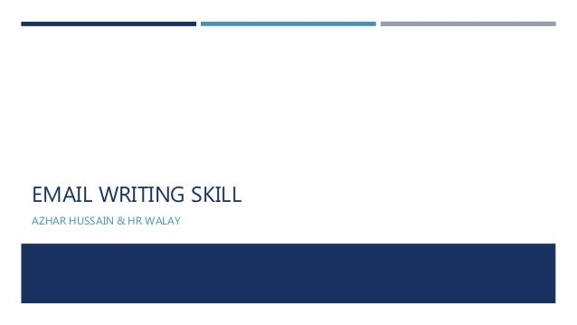 Ppt On Email Writing Skills