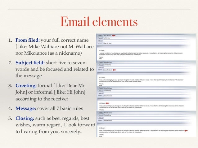 Email writing skills email elements 1 m4hsunfo