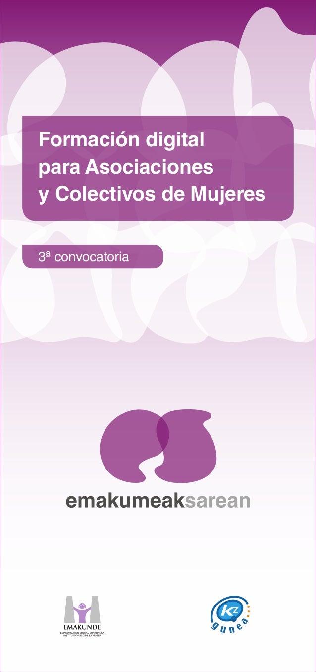 Formación digital para Asociaciones y Colectivos de Mujeres 3ª convocatoria
