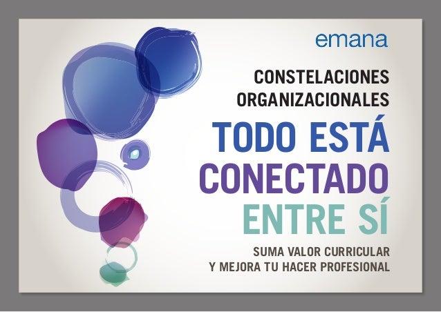 CONSTELACIONES ORGANIZACIONALES TODO ESTÁ CONECTADO ENTRE SÍ SUMA VALOR CURRICULAR Y MEJORA TU HACER PROFESIONAL