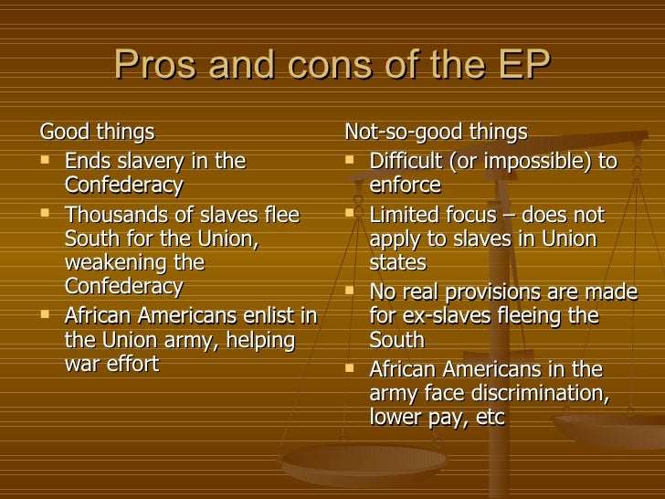 cons of slavery In what ways were early compromises over slavery ineffective and what impact   missouri compromise of 1820, including the advantages and disadvantages it.