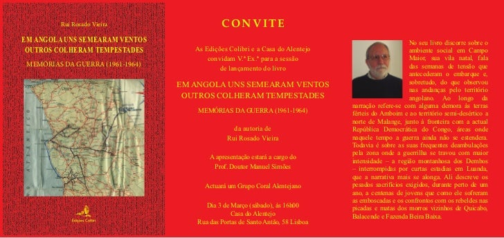 Rui Rosado Vieira                   CONVITEEM ANGOLA UNS SEMEARAM VENTOS                                                  ...