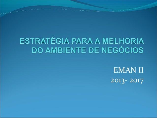 EMAN II2013- 2017