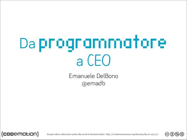 Da programmatorea CEOEmanuele DelBono@emadb