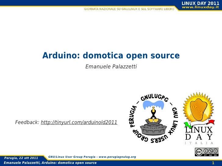 Arduino domotica opensource