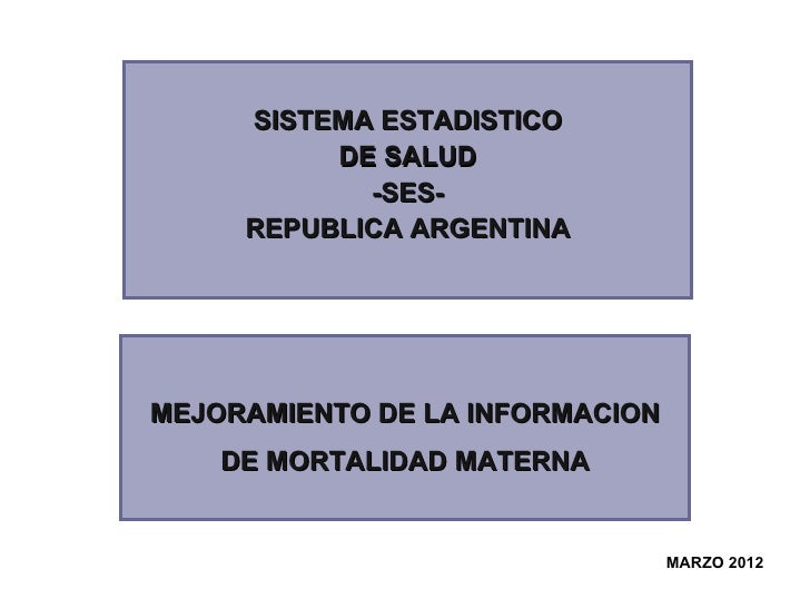 SISTEMA ESTADISTICO          DE SALUD            -SES-     REPUBLICA ARGENTINAMEJORAMIENTO DE LA INFORMACION    DE MORTALI...
